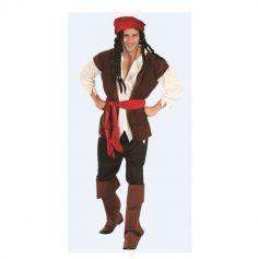 Costume Pirate avec Surbottes - Homme - Taille au choix