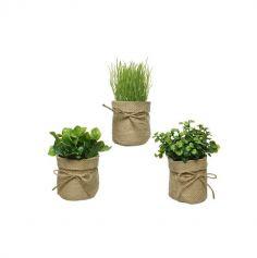pots-fleurs-jute-mariage | jourdefete.com