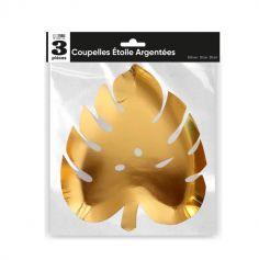 3 coupelles feuilles or | jourdefete.com