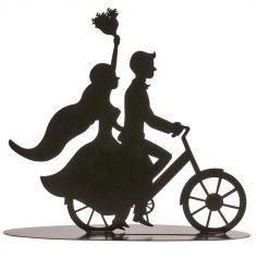 decoration-gateau-couple-bicyclette | jourdefete.com