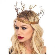 Couronne Métal - Reine de la Forêt Fantastique - Adulte