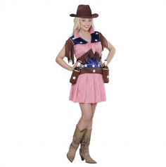 Costume de cowgirl de rodéo - Taille au choix