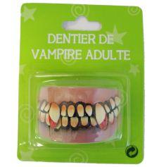 Accessoire Dentier de Vampire Adulte Sang