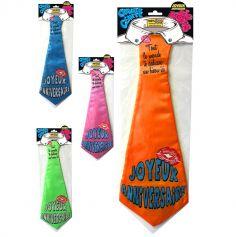 Cravate Géante Joyeux Anniversaire - Coloris au Choix