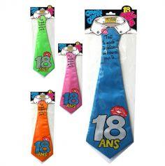 """Cravate géante à embrasser """"18 ans"""" - Différents coloris"""