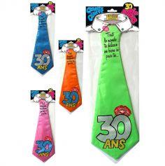 """Cravate géante à embrasser """"30 ans"""" - Différents coloris"""