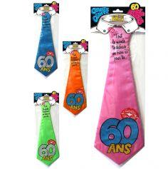 """Cravate géante à embrasser """"60 ans"""" - Différents coloris"""