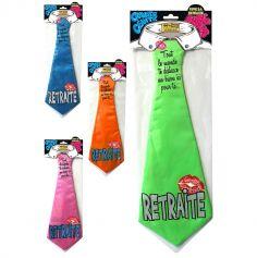 Cravate Géante Retraite - Coloris au Choix