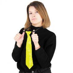 Cravate à Sequins - Néon - Adulte - Couleur au Choix
