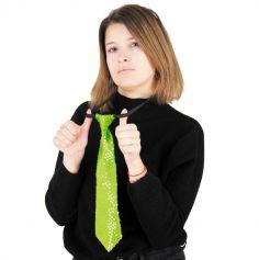cravate à sequins néon pour adulte | jourdefete.com