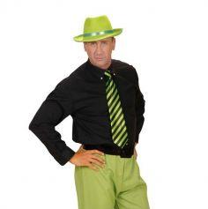 Cravate Flashy Rayée Verte et Noire