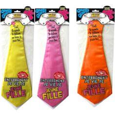 """Cravate géante à embrasser """"Enterrement de vie de jeune fille"""" - Différents coloris"""