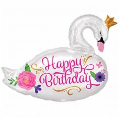 cygne-ballon-anniversaire | jourdefete.com