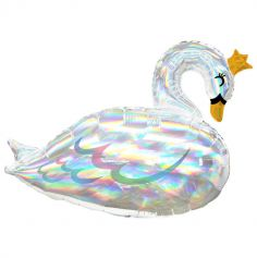 ballon supershape cygne iridescent | jourdefete.com