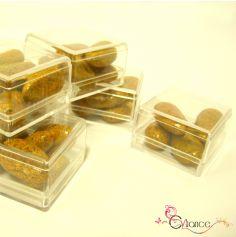 Sachet de Six Cubes en Plexiglas à Garnir de Dragées Transparent