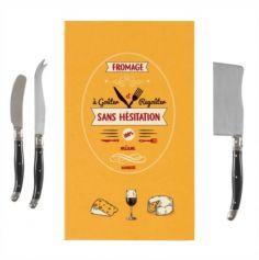 Kit à Fromage en forme de Livre avec 3 Couteaux - Derrière la Porte