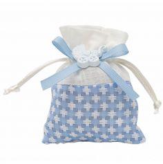 pochons-damier-bleu-bapteme | jourdefete.com