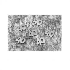 """Confettis de Table """"40"""" ans - Argent"""