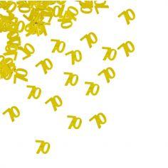 "Confettis de Table ""70"" ans - Or"