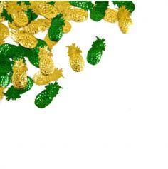 Sachet de Confettis de table Ananas - Jaune et Vert