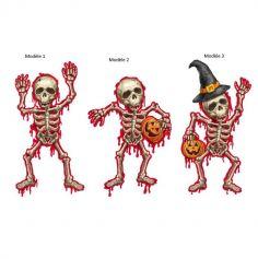 Décoration de Fenêtre 3D - Halloween - Squelette - Modèle au Choix