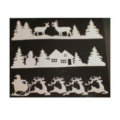 Décoration de Noël - Bandeau à Paillettes 1m x 25 cm - Modèle au Choix