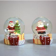 Décoration de Noël - Boule de Neige - 6,5 cm - Modèle au Choix