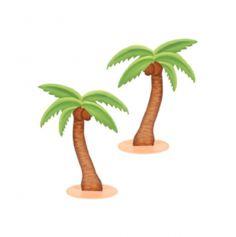 Palmier décoratif en bois - 9 cm