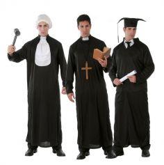 déguisement 3 en 1 juge ou curé ou étudiant pour homme | jourdefete.com