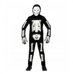 Déguisement Combinaison de Squelette 3D pour garçon - Taille au Choix