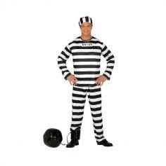 deguisement de bagnard homme taille au choix | jourdefete.com