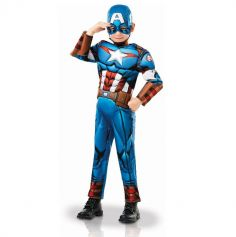 Déguisement de Captain America de Luxe - Avengers - Enfant - Taille au Choix
