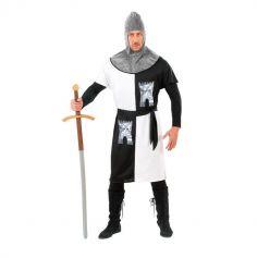 Déguisement de Chevalier Médiéval Blanc pour Homme - Taille au Choix