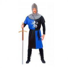 déguisement de chevalier médiéval bleu pour homme | jourdefete.com