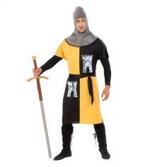 Déguisement de Chevalier Médiéval Jaune pour Homme - Taille au Choix