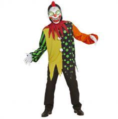 Déguisement de Clown avec Masque Lumineux et Sonore - Ado - Taille au Choix