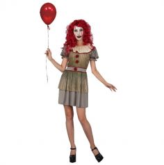 deguisement-femme-cloxwn-vintage-halloween | jourdefete.com