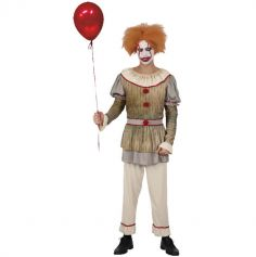 Déguisement de Clown pour Homme - Vintage - Halloween - Taille au Choix