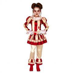 deguisement-clown-vintage-fille-halloween | jourdefete.com