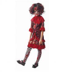 Déguisement de Creepy Clown Sanglant pour fille - Taille au Choix