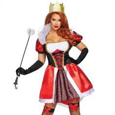 Déguisement de Femme - Reine de Wonderland Sexy - Taille au Choix