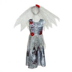 Déguisement de Fille - Mariée Zombie - Taille au Choix