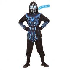 Déguisement de Garçon - Cyber Ninja avec Masque Lumineux et Sonore - Taille au Choix