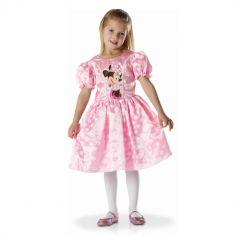 deguisement de Minnie robe rose satinée pour fille | jourdefete.com