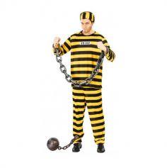 deguisement de prisonnier dalton homme taille au choix | jourdefete.com