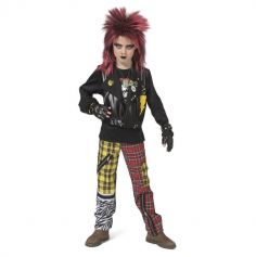 Déguisement de Punk pour garçon - Taille au Choix