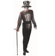 Déguisement de Sorcier Vaudou Squelette pour homme - Taille au Choix