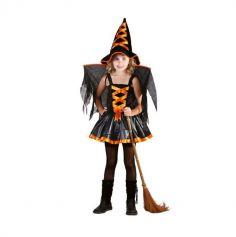 Déguisement de sorcière ailée orange
