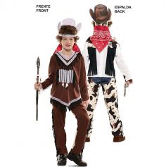 Déguisement Double Fun - Indien / Cowboy - Taille au Choix