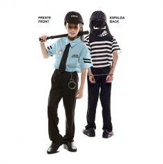 Déguisement Double Fun - Policier / Voleur - Taille au Choix